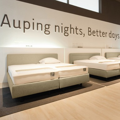Proefliggen matrassen Auping Plaza luxembourg