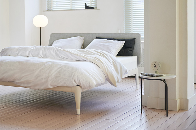 essential bed in sand beige
