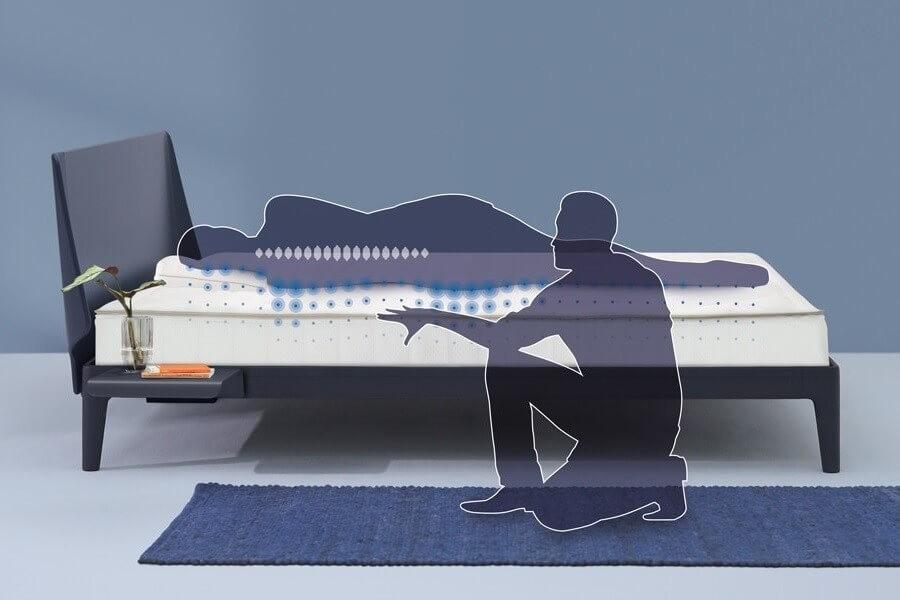 bed met matras van auping