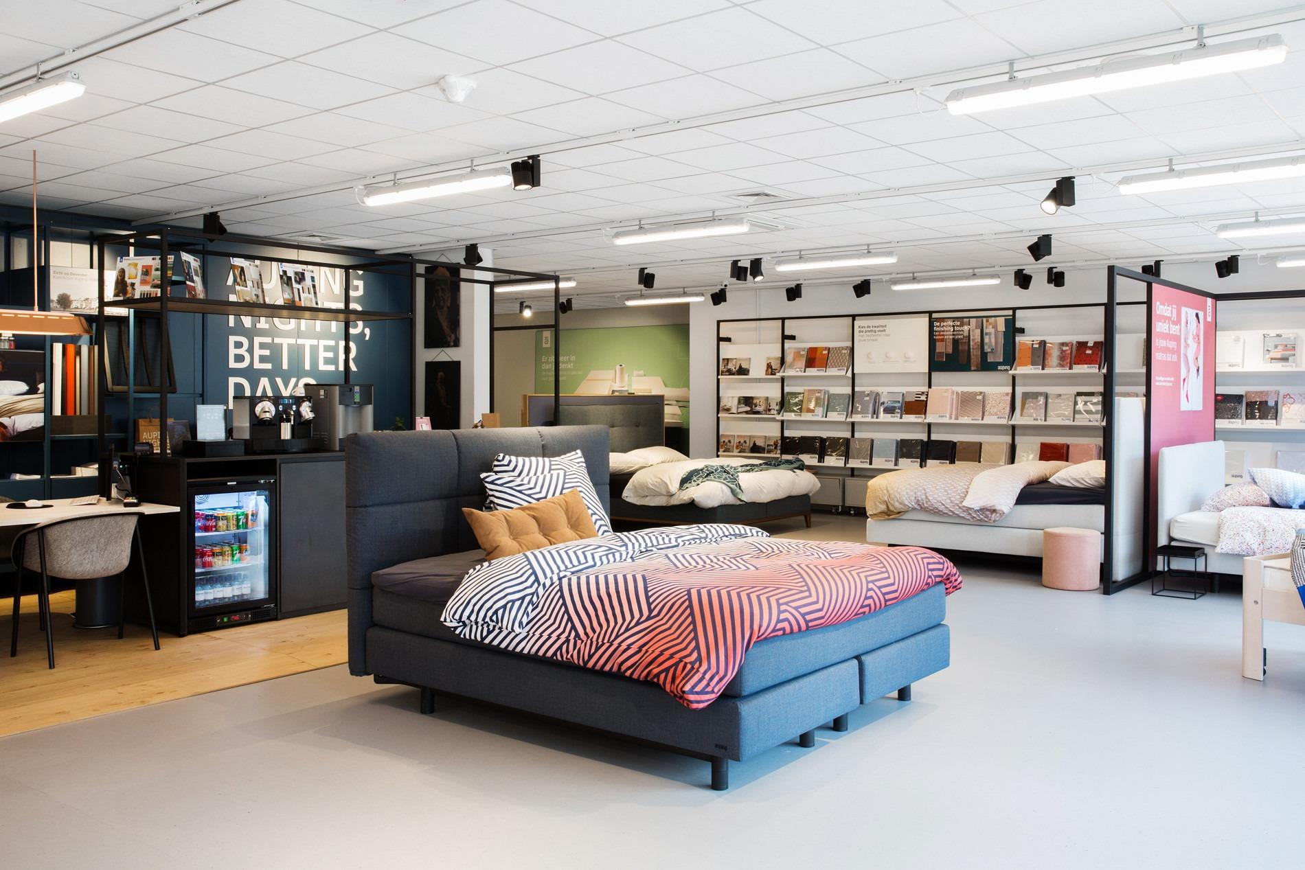 Volledige Auping assortiment in beddenwinkels Den Haag