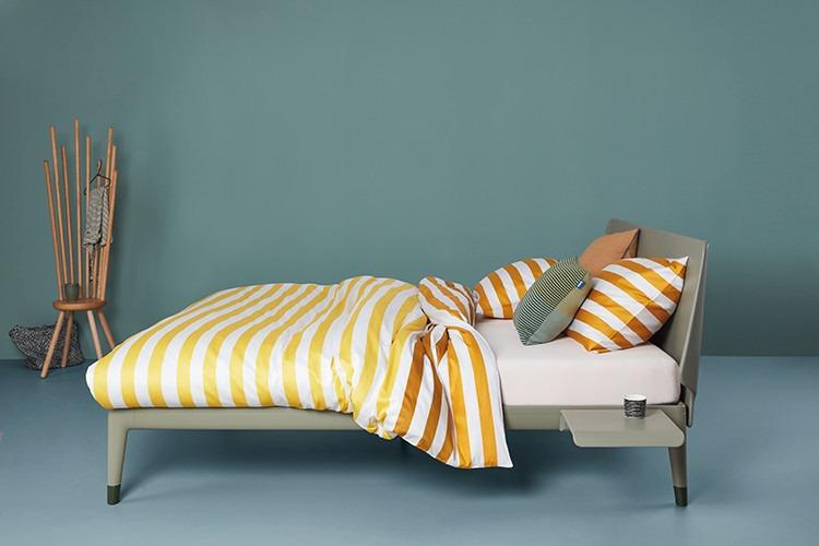 essential bed van auping in kleur clay