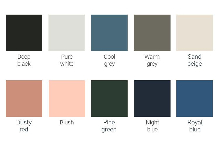 de kleuren van het essential bed