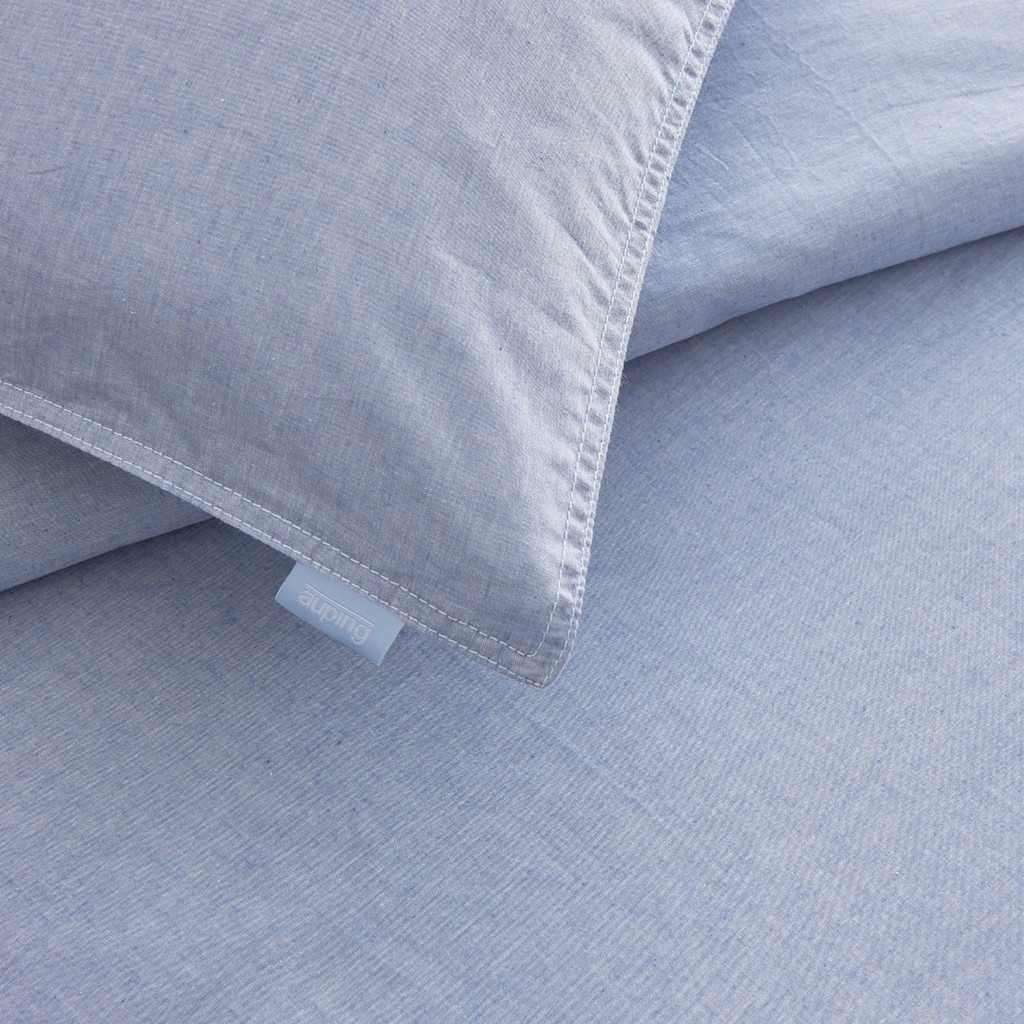 chambray detail duvet cover
