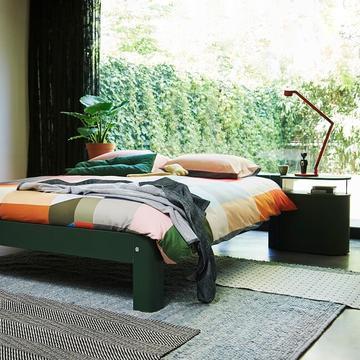 bett auping auronde der moderne designklassiker. Black Bedroom Furniture Sets. Home Design Ideas