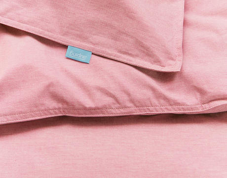 Chambray Coral duvet cover