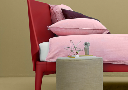 auping essential bed coral red