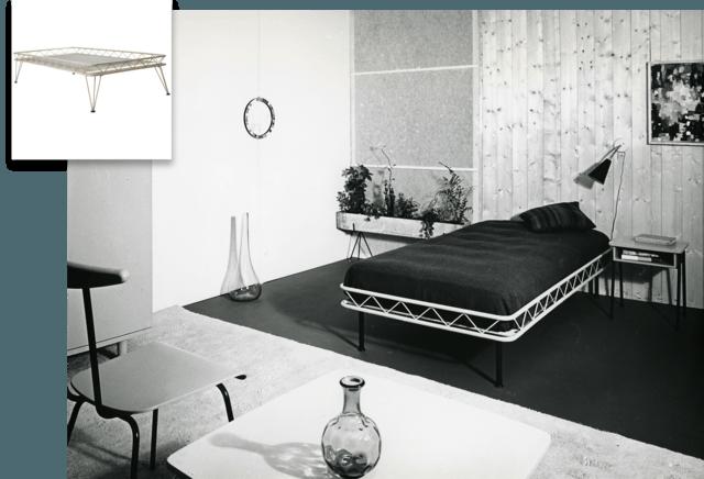 1954 Auping Ariëlle bed ontworpen door Wim Rietveld