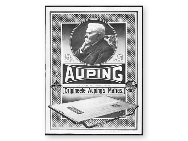 """Plakat: """"Original Auping madras"""" fra år 1900"""