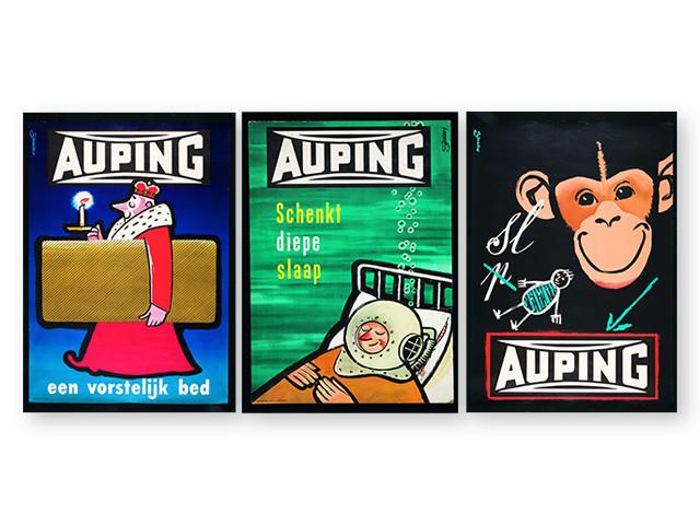 """""""En fyrstelig seng"""" Auping. Reklame fra år 1954"""
