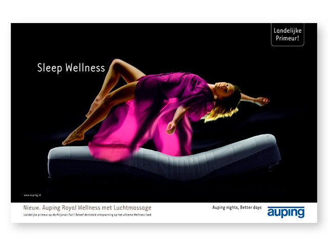 """Auping Nights, Better Days"" reklame fra år 2005"