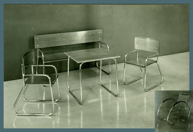 1930 Auping stålrørsmøbler af Ben van Reynsdorp
