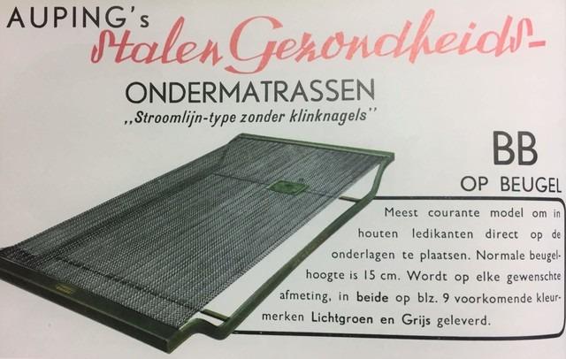 1940 Auping  stalen gezondheid ondermatras ontworpen door Welschen