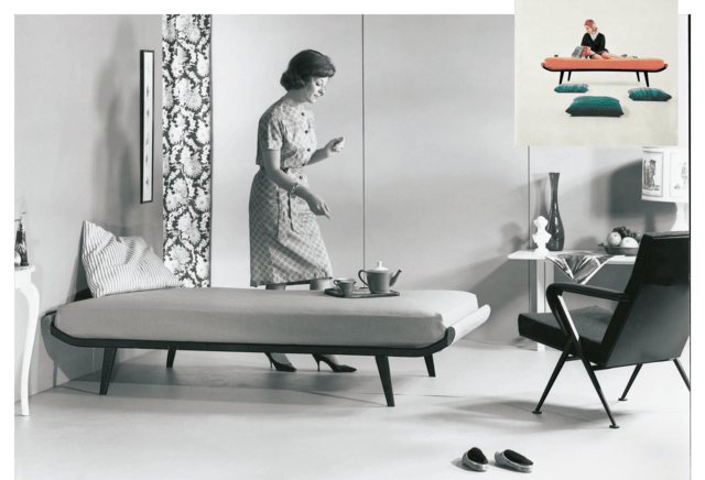 1953 Auping Cleopatra bed ontworpen door Dick Cordemeijer